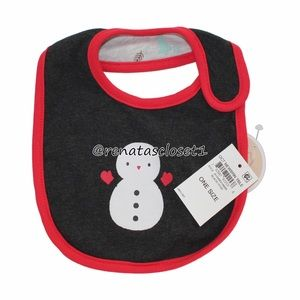 First Impressions Reversible Snowman Holiday Bib